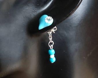 Blue Heart Ear Jacket