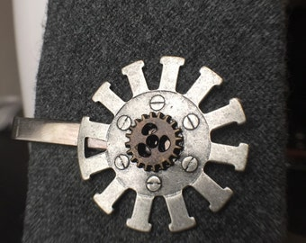 Gifts-For-Him Gift For Mechanic - Steampunk Tie Clip, Steampunk Jewelry - Mens Jewelry - Mens Accessories - Tie Clips Men - Mens Ties - Gear