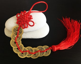 Feng Shui 9 Coins Tassel for Wealth