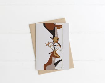 Rutting Stags Greetings Card