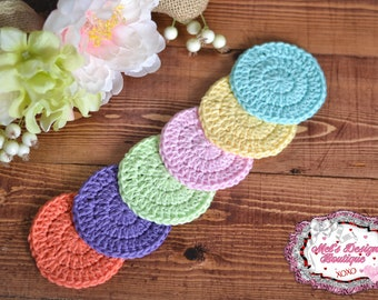 face scrubbies - cotton rounds - 100% cotton scrubbies - scrubbies - crochet cotton rounds - crochet - facial cleansing pads - ready to ship
