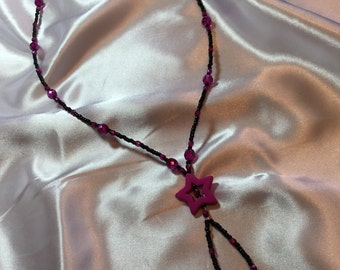 Purple/Pink star necklace