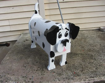 Handmade Custom Wooden Functional Dalmation mailbox