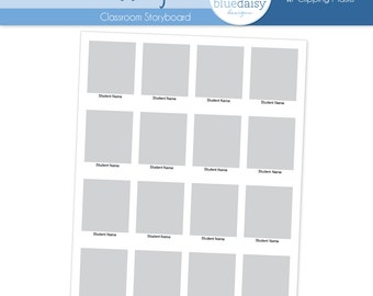 8x10 Classroom Storyboard  (Class Size 16) - Photographer Resources