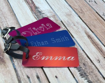 Personalized Luggage Tag, engraved luggage tag favors, Luggage Tags Personalized, Metal Luggage Tag, Realtor Closing Gifts