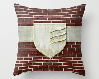 "GROVE CITY COLLEGE Insignia 16x16"" Pillow Cover. Photo Art by TMCdesigns. In Stock. Home Decor. Brick & Limestone. Timeless. Graduation Gift"