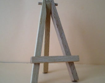 Mini Easel/Table card holder in Birch wood 12 cm