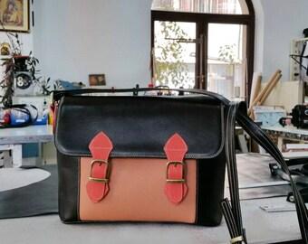 Brown Leather Bag, Leather Messenger Bag, Leather Shoulder Bag, Leather School Bag,Leather Messenger,Leather Handbag, Leather Crossbody Bag