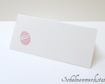 Table card with stamped Easter egg (6 pcs)
