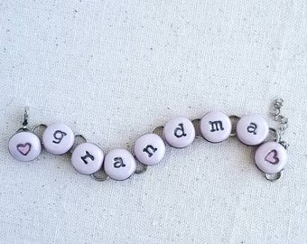 Grandma, chain bracelet, FREE SHIPPING