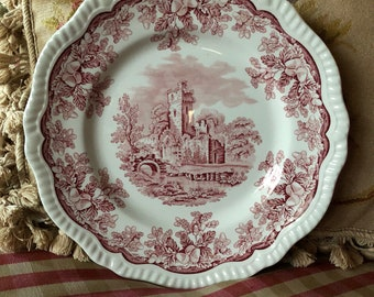 French Country Toile Scallop Spode Regency series Ruins Plate