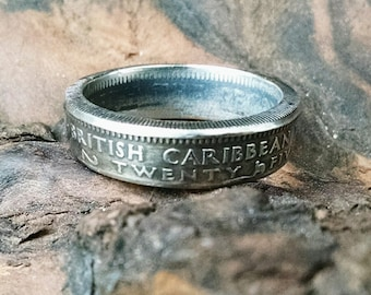 Coin Ring - British Caribbean Territories Coin Ring 1963 - Size: 7 1/2