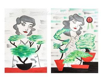 Bonsai Girls 8x10 print