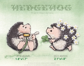 A couple of hedgehogs - Embroidery Trim with Glue