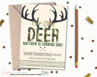 Oh deer birthday invitation hunting hunter invitation deer invitation hunting invitation deer camo invitation camouflage invitation hunting birthday invitation filmwisefo