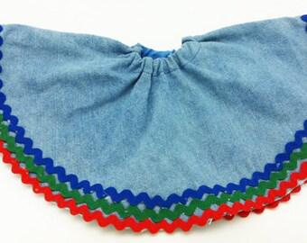 Handmade Denim Skirt for Bear, Monkey, Stuffed Animal