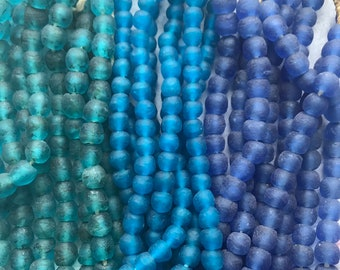 Choose COLOR & Qty African Recycled Glass, African Glass, African Recycled Glass Beads, Recycled Glass Beads, African Glass Beads, beads