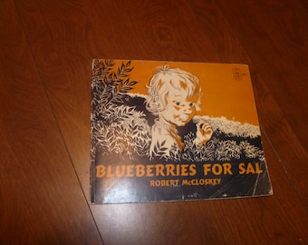 Vintage book, Blueberries for Sal