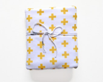 Organic Swaddle Blanket Mustard Plus - Swaddle Blanket - Organic Knit - Baby Blanket - Newborn Blanket - Mustard Swaddle - Baby Blanket