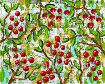 Christmas digital paper, Christmas digital background, Christmas digital print,holly berries, art journal download, Christmas scrapbook,