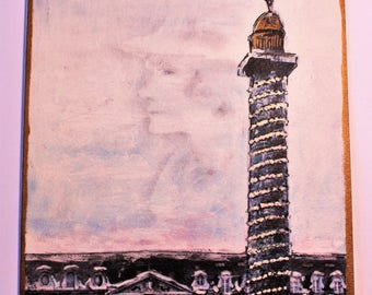 Big Chanel Place Vendôme Drawing Karl Lagerfeld Illustration of 1997 Collector