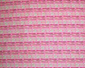 STORE CLOSING SALE - Free Spirit, Enchantment, Hitched, Coral, Kathy Davis, 100% Cotton Quilt Fabric, Pink Quilting Fabric