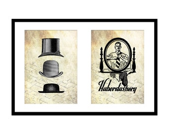 5x7 Menswear Print Set: Gifts for Sewers - Haberdashery - Millinery - Tailor - Printable Victorian Wall Art - Gift for Maker - Sewer Gift
