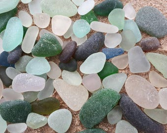 400grams of sea glass pieces,jewelery quality,med to large,smooth edges and thick frosting,genuine Scottish sea glass.