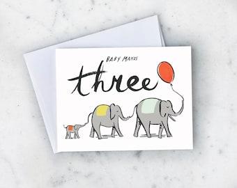 Baby Makes 3 Greeting Card