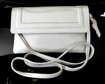 Leather Handmade Small Purse - White Purse - Free Shipping!