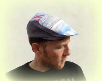 man, gapette, blue and black cap, size 56