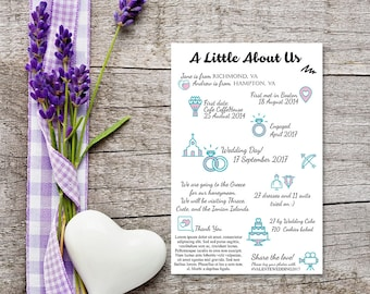 Wedding Infographics, Printable Custom Info Graphic,