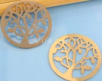 Prints watermark tree stylistic copper clear - 24mm Diam 2 # P24