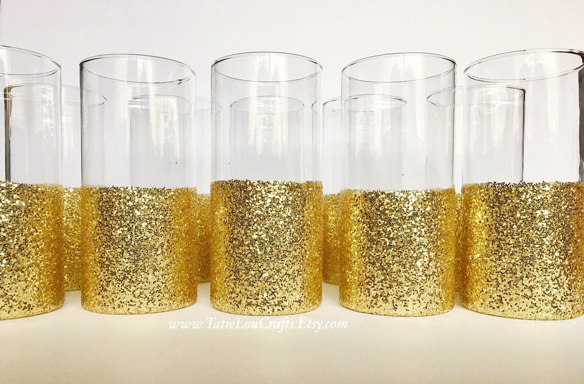 Set of 10 gold dipped vases gold wedding decor glitter dipped zoom reviewsmspy