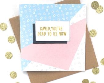 Funny Farewell card, Funny New Job Card, Personalised Farewell Card, Personalised new job card, Funny leaving card, Personalised leaving