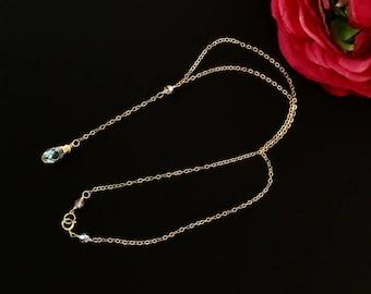 Y Drop Crystal Necklace