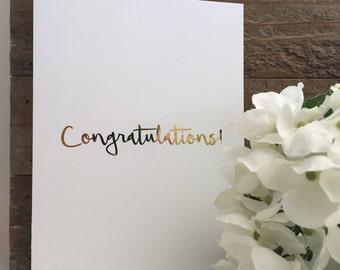 Congratulations Card Set / Gold Foil Card Set / Blank Greeting Cards