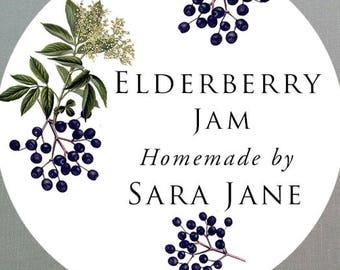 """Round 2"""" Elderberry Label, set of 18"""