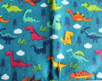 Fabric cotton dinosaur 50x65cm