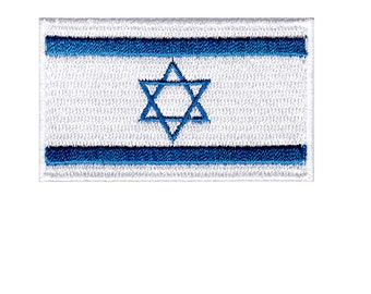 Flag of Israel Iron On Patch 2.5 x 1.5 inch Free Shipping (Small)
