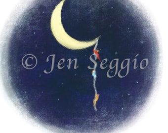 Escape From The Moon // Art print // Digital illustration
