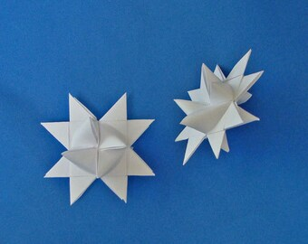 Moravian Stars (10): White, 2 inches