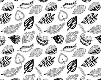 Black and White Leaves - Ceramic Decals- Enamel Decal - Fusible Decal - Glass Fusing Decal ~ Waterslide Decal - 406710403