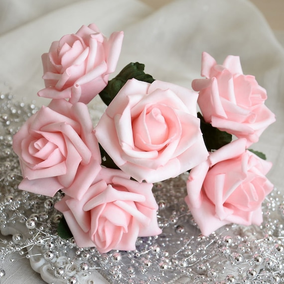 Light Pink Rose Flowers Wedding Arrangement Flowers Artificial