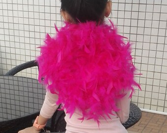 Kides turkey feather back piece for dancing, show and party BP20180312
