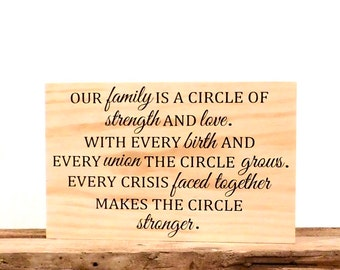 Family Rustic Wooden Wall Hanging Sign