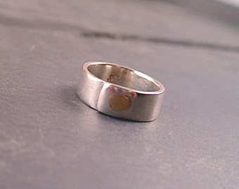 Phoebe Ring - Sterling Silver and Brass Size 5.75