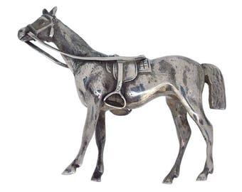 Antique Silver Horse Model