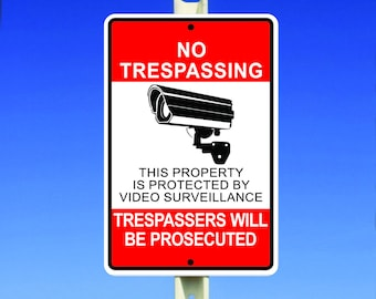 No Trespassing This Property Is Protected By Video Surveillance Sign