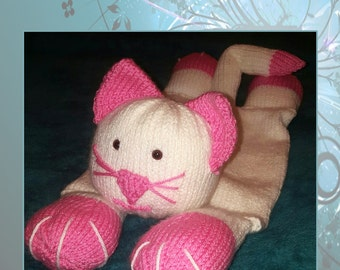 Hand Knitted Cat Pyjama Case